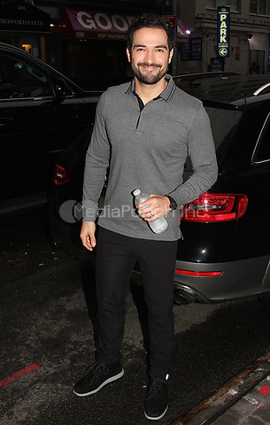 NEW YORK, NY - OCTOBER 9: Alfonso Herrera spotted leaving 'Good Day New York'  in New York, New York on October 9, 2017.  Photo Credit: Rainmaker Photo/MediaPunch