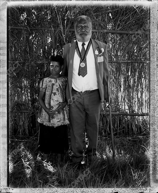 Councilor Noki Rumints, from the Koibuga village, Mount Hagen, at the annual 'Sing-Sing' festival, Mount Hagen, Papua New Guinea, August 2004.