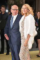 Rupert Murdoch and Jerry Hall at 'Absolutely Fabulous: The Movie' world film premiere, Odeon cinema, Leicester Square, London, England June 19, 2016.<br /> CAP/PL<br /> &copy;Phil Loftus/Capital Pictures /MediaPunch ***NORTH AND SOUTH AMERICAS ONLY***