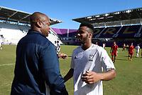 Orlando, Florida - Wednesday January 17, 2018: Mo Adams and Bo Oshoniyi. Match Day 3 of the 2018 adidas MLS Player Combine was held Orlando City Stadium.
