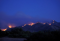 "The June 2003 ""Aspen"" Forest Fire in the Santa Catalina Mountains north of Tucson, Arizona (1)"