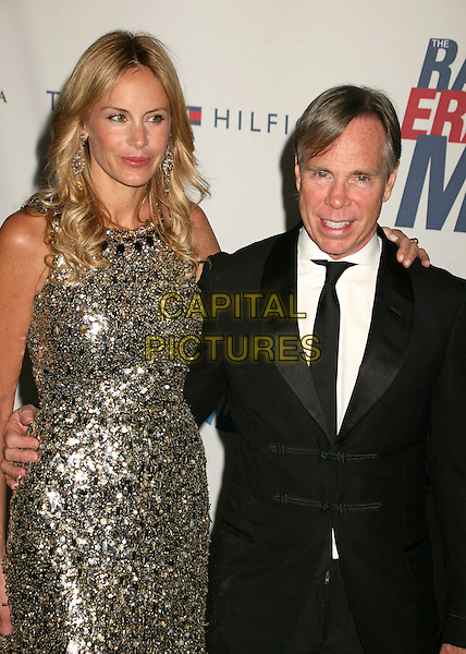 "DEE OCLEPPO & TOMMY HILFIGER.14th Annual Race to Erase MS Themed ""Dance to Erase MS"" at the Century Plaza Hotel, Century City, California, USA, 13 April 2007..half length silver grey gold beaded sequined dress black tie suit.CAP/ADM/BP.©Byron Purvis/AdMedia/Capital Pictures."