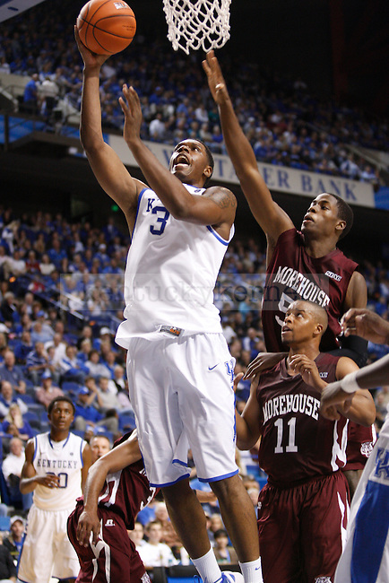 Sophomore forward Terrence Jones takes the ball to the basket during the second half of the UK's home game against Morehouse in Lexington, Ky., Nov. 7, 2011. Photo by Brandon Goodwin | Staff