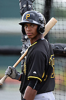 Pittsburgh Pirates Sandy Santos (79) during minor league spring training on March 23, 2015 at Pirate City in Bradenton, Florida.  (Mike Janes/Four Seam Images)