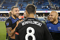 SAN JOSE, CA - JUNE 26: Guram Kashia #37 during a Major League Soccer (MLS) match between the San Jose Earthquakes and the Houston Dynamo on June 26, 2019 at Avaya Stadium in San Jose, California.