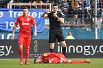 10.03.2018, Vonovia Ruhrstadion, Bochum, GER, 2.FBL., VfL Bochum vs. Holstein Kiel<br /> im Bild / picture shows: <br /> Dominick Drexler (Holstein Kiel #24), verletzt am Boden <br /> <br /> <br /> <br /> Foto &copy; nordphoto / Meuter