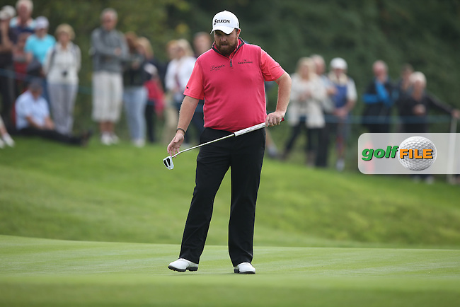 Shane Lowry (IRL) misses every birdie chance on the back nine to give the advantage to Joost Luiten (NED) who goes two shots clear during Round Three of the ISPS Handa Wales Open 2014 from the Celtic Manor Resort, Newport, South Wales. Picture:  David Lloyd / www.golffile.ie