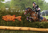 LEXINGTON, KY - April 29, 2017. #16 P S Arianna and Madeline Backus from the USA finish in 20th place after the Cross Country test at the Rolex Three Day Event at the Kentucky Horse Park.  Lexington, Kentucky. (Photo by Candice Chavez/Eclipse Sportswire/Getty Images)