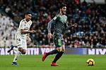 Real Madrid's Carlos Henrique Casemiro and Real Sociedad's Mikel Merino during La Liga match between Real Madrid and Real Sociedad at Santiago Bernabeu Stadium in Madrid, Spain. January 06, 2019. (ALTERPHOTOS/A. Perez Meca)<br />  (ALTERPHOTOS/A. Perez Meca)
