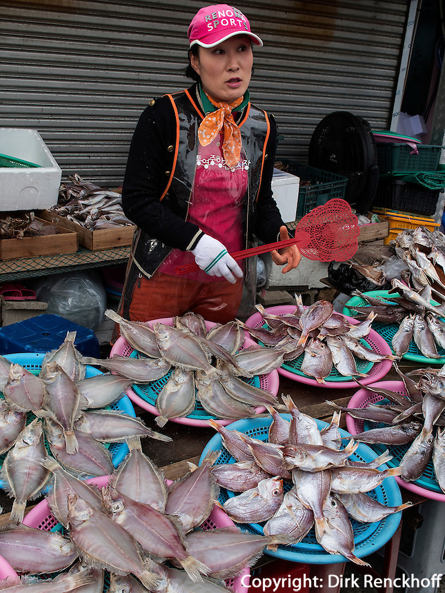 Fischmarkt in Tongyeong, Provinz Gyeongsangnam-do, S&uuml;dkorea, Asien<br /> fishmarket of Tongyeong,  province Gyeongsangnam-do, South Korea, Asia