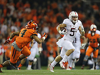 SAN JOSE, CA -- September 25, 2015: The Stanford Cardinal defeates the Oregon State Beavers 42-24 at Reser Stadium in Corvallis, Oregon.