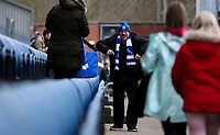 Blackburn Rovers fans arrive at the seats inside Ewood Park<br /> <br /> Photographer Alex Dodd/CameraSport<br /> <br /> The EFL Sky Bet Championship - Blackburn Rovers v Preston North End - Saturday 11th January 2020 - Ewood Park - Blackburn<br /> <br /> World Copyright © 2020 CameraSport. All rights reserved. 43 Linden Ave. Countesthorpe. Leicester. England. LE8 5PG - Tel: +44 (0) 116 277 4147 - admin@camerasport.com - www.camerasport.com