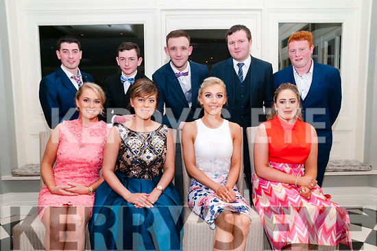 North Kerry Harriers Ball: attending the North Kerry Harriers Hunt Ball at the Listowel Arms Hotel on Saturday night last were Amy Carmody, Marie O'Halloran, Saorcha Fitzgerald & Aoife Foley. Back : Shane Tiernan, Ben Kennedy, Edward Hanrahan, Cathal Carmody & Brendan Stack.