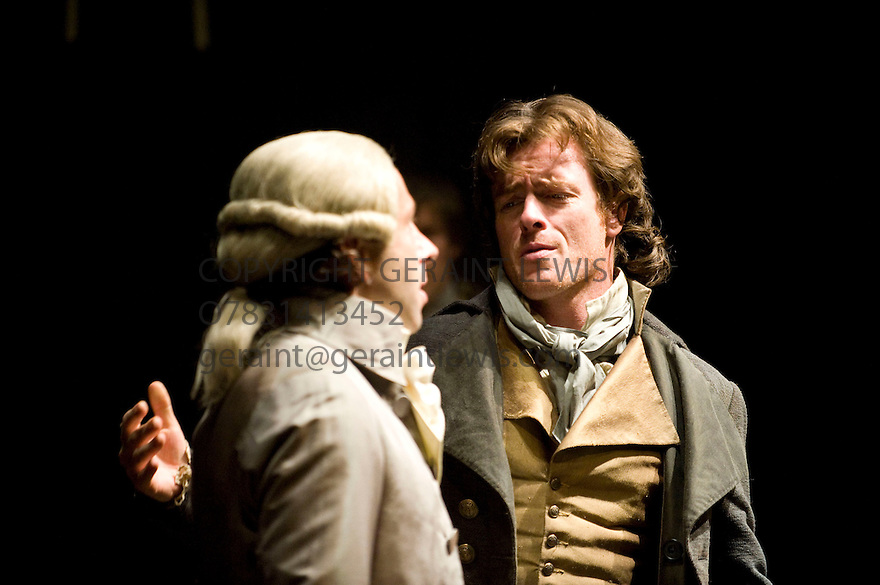 Danton's Death by Georg Buchner, a new version by Howard Brenton directed by Michael Grandage.With Elliot Levey as Robespierre,Toby Stephens as Georges Danton.Opens at The OlivierTheatre at The Royal National Theatre  on 22/7/10 Credit Geraint Lewis