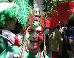 11 June 2006: A Mexican fan in an Aztec headdress. Mexico played Iran at the Frankenstadion in Nuremberg, Germany in match 7, a Group D first round game, of the 2006 FIFA World Cup.