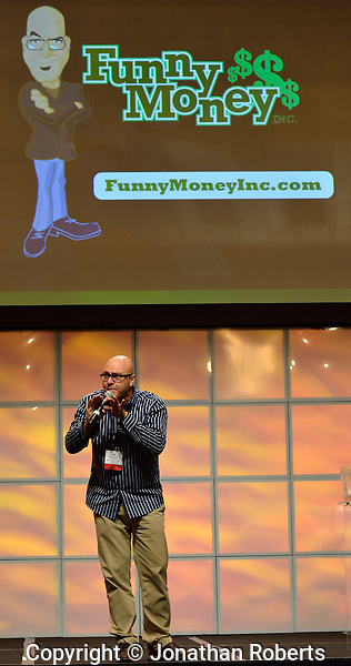 Comedian James Cunningham brings his Funny Money program to the American Chamber of Commerce Executives (ACCE) annual convention in Louisville, Kentucky