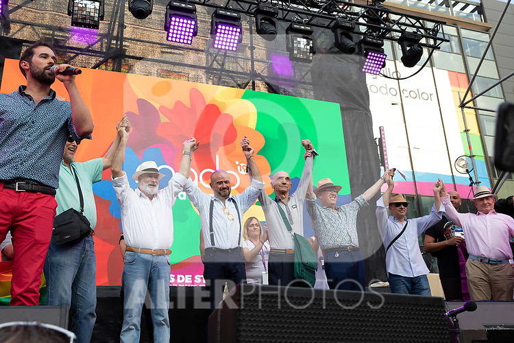 Mayores sin armarios during the presentation of the lgtb pride party of Madrid. July 3, 2019. (ALTERPHOTOS/JOHANA HERNANDEZ)