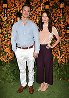 PACIFIC PALISADES, CA - OCTOBER 06: Freddie Stroma and Johanna Braddy arrive at the 9th Annual Veuve Clicquot Polo Classic Los Angeles at Will Rogers State Historic Park on October 6, 2018 in Pacific Palisades, California.<br /> CAP/ROT/TM<br /> &copy;TM/ROT/Capital Pictures