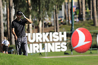Ross Fisher (ENG) on the 18th hole during Thursday's Round 1 of the 2018 Turkish Airlines Open hosted by Regnum Carya Golf &amp; Spa Resort, Antalya, Turkey. 1st November 2018.<br /> Picture: Eoin Clarke | Golffile<br /> <br /> <br /> All photos usage must carry mandatory copyright credit (&copy; Golffile | Eoin Clarke)