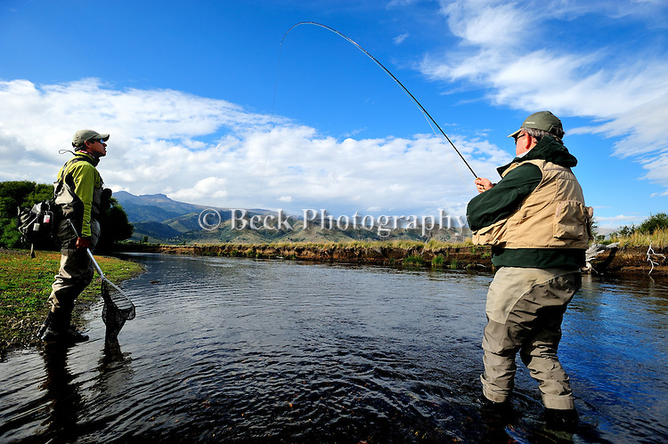 Fly fishing the Rio Malleo River, Patagonia