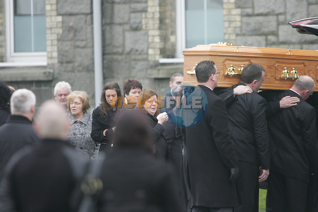 The Funeral of Seamus McMahon who was shot dead in Saltown Dundalk...Picture Fran Caffrey/Newsfile.ie