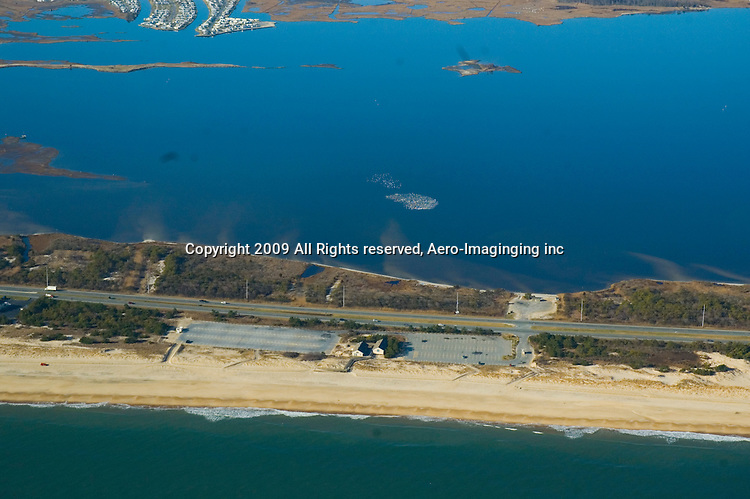 Aerial view of Delaware Beaches,<br />