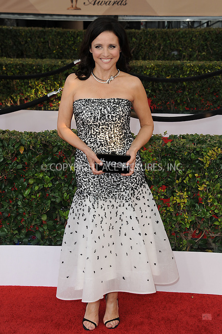 WWW.ACEPIXS.COM<br /> <br /> January 30 2016, LA<br /> <br /> Julia Louis-Dreyfus arriving at the 22nd Annual Screen Actors Guild Awards at the Shrine Auditorium on January 30, 2016 in Los Angeles, California<br /> <br /> By Line: Peter West/ACE Pictures<br /> <br /> <br /> ACE Pictures, Inc.<br /> tel: 646 769 0430<br /> Email: info@acepixs.com<br /> www.acepixs.com