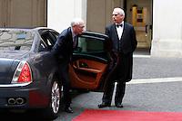 Il Presidente del Consiglio Europeo Herman Van Rompuy arriva a Palazzo Chigi, Roma, 18 giugno 2014.<br /> European Council President Herman Van Rompuy arrives for his meeting with Italian Premier at Chigi Palace, Rome, 18 June 2014.<br /> UPDATE IMAGES PRESS/Isabella Bonotto
