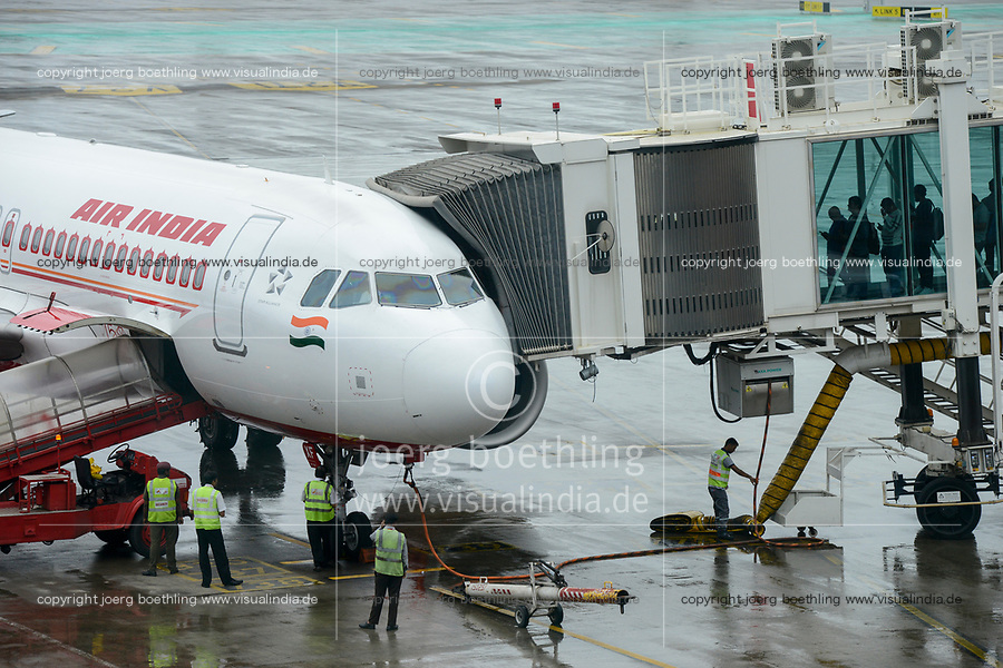 INDIA, Mumbai , Chatrapati Shivaji International Airport, Airbus of Air India