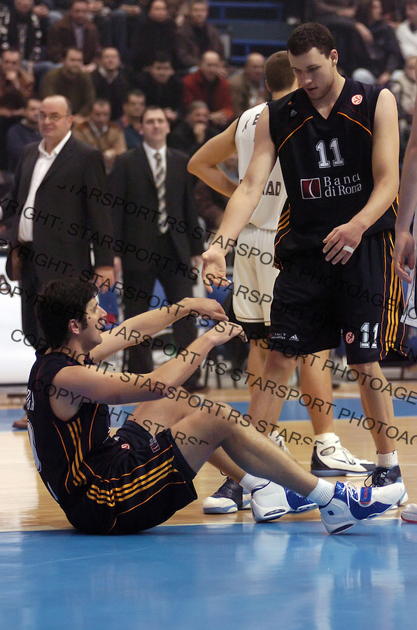 SPORT KOSARKA BASKETBALL EUROLEAGUE SERBIA Partizan Vs Lottomattica Dejan Bodiroga  14.12.2006. photo: Pedja Milosavljevic<br />