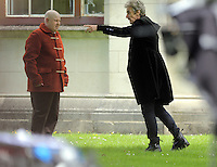 Pictured L-R: Matt Lucas and Peter Capaldi  Monday 27 June 2016<br /> Re: Dr Who filming in Cardiff, Wales, UK