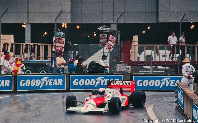 Alain Prost, McLaren MP4-3, Detroit 1987