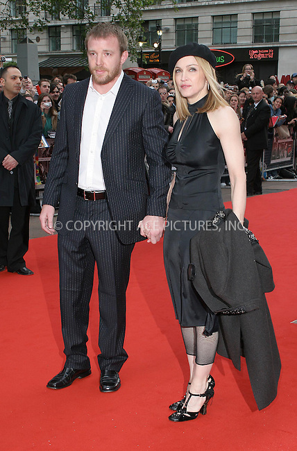 WWW.ACEPIXS.COM . . . . .  ... . . . . US SALES ONLY . . . . .....LONDON, MAY 23RD 2005....Guy Richie and Madonna at the UK premiere of Sin City at the Odeon West End....Please byline: FAMOUS-ACE PICTURES-F. DUVAL... . . . .  ....Ace Pictures, Inc:  ..Craig Ashby (212) 243-8787..e-mail: picturedesk@acepixs.com..web: http://www.acepixs.com
