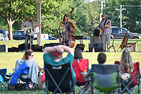NWA Democrat-Gazette/J.T. WAMPLER Smokey and the Mirror performs Friday June 16, 2017 during a free show at Music in Murphy, a summer music series at newly renovated Murphy Park in Springdale. Springdale Parks and Recreation will continue the series with Full House Band on July 21.