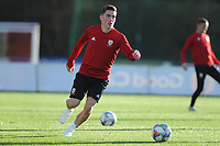 Harry Wilson of Wales in action during the Wales Training Session at The Vale Resort in Cardiff, Wales, UK. Monday 12 November 2018