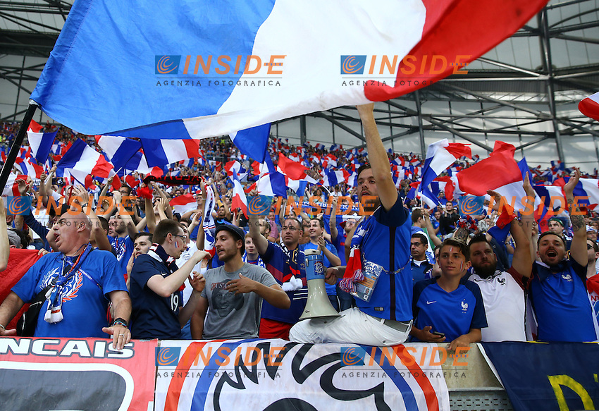 France supporters in the stands. Tifosi Francia<br /> Marseille 15-06-2016 Stade Velodrome Footballl Euro2016 France - Albania  / Francia - Albania Group Stage Group A. Foto Matteo Ciambelli / Insidefoto