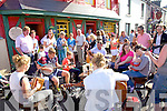 Music sessions on the street at the Cahersiveen Festival of Musive and the Arts at the weekend.