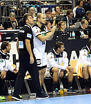 12.01.2019, Mercedes Benz Arena, Berlin, GER, Germany vs. Brazil, im Bild Cheftrainer (Head Coach) Christian Prokop (GER), Paul Drux (GER #95)<br /> <br />      <br /> Foto &copy; nordphoto / Engler