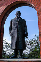 Budapest, Hungary.  Memento Park with 42 pieces of art from the Communist era. Lenin.