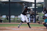 AZL White Sox center fielder Luis Mieses (22) at bat during an Arizona League game against the AZL Mariners at Camelback Ranch on July 8, 2018 in Glendale, Arizona. The AZL White Sox defeated the AZL Mariners 8-5. (Zachary Lucy/Four Seam Images)
