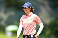 SINGAPORE - MARCH 03: Azahara Munoz of Spain on the 18th green during the final round of the HSBC Women's World Championship 2019 at Sentosa Golf Club - Tanjong Course, Singapore on March 03, 2019.<br /> .<br /> .<br /> .<br /> (Photo by: Naratip Golf Srisupab/SEALs Sports Images)<br /> .<br /> Any image use must include a mandatory credit line adjacent to the content which should read: Naratip Golf Srisupab/SEALs Sports Images
