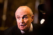 Rudolph Giuliani speaks with reporters at Trump Tower in Manhattan, New York, U.S., on Thursday, January 12, 2017. <br /> Credit: John Taggart / Pool via CNP