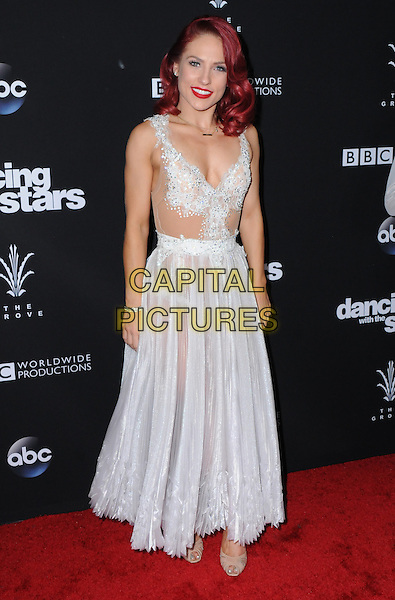 22 November 2016 - Los Angeles, California. Sharna Burgess. ABC's &quot;Dancing With The Stars&quot; Season 23 Finale held at The Grove. <br /> CAP/ADM/BT<br /> &copy;BT/ADM/Capital Pictures