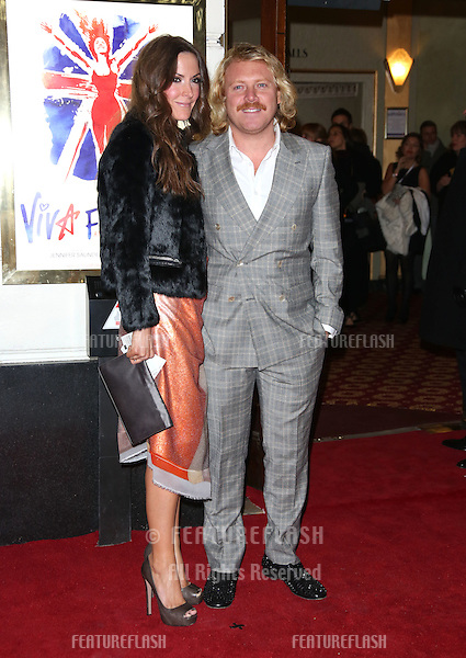 Leigh Francis and Jill Carter arriving for VIVA Forever Spice Girls the Musical held at the Piccadilly Theatre. 11/12/2012 Picture by: Henry Harris / Featureflash