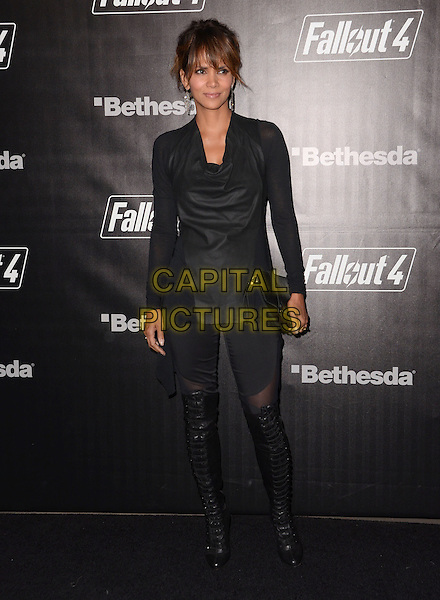 05 November - Los Angeles, Ca - Halle Berry. Arrivals for the official launch party of the video game &quot;Fallout 4&quot; held at a private location in Downtown LA.  <br /> CAP/ADM/BT<br /> &copy;BT/ADM/Capital Pictures