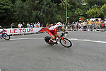 Cofidis team rider Stephane Auge (FRA) rounds the hairpin during the 1st stage prologue of the 2009 Tour de France in Monaco, 4th July 2009 (Photo by Eoin Clarke/NEWSFILE)