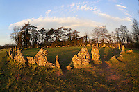 United Kingdom, England, Oxfordshire, Cotswolds, Chipping Norton: The Rollright Stones Bronze Age stone circle | Grossbritannien, England, Oxfordshire, Cotswolds, Chipping Norton: Die Rollright Stones aus der Bronzezeit