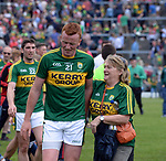2-7-2017: Joint Kerry captain Johnny Buickley congratulated after  the Kerry V Cork Munster Football final in Killarney on Sunday.<br /> Photo: Don MacMonagle