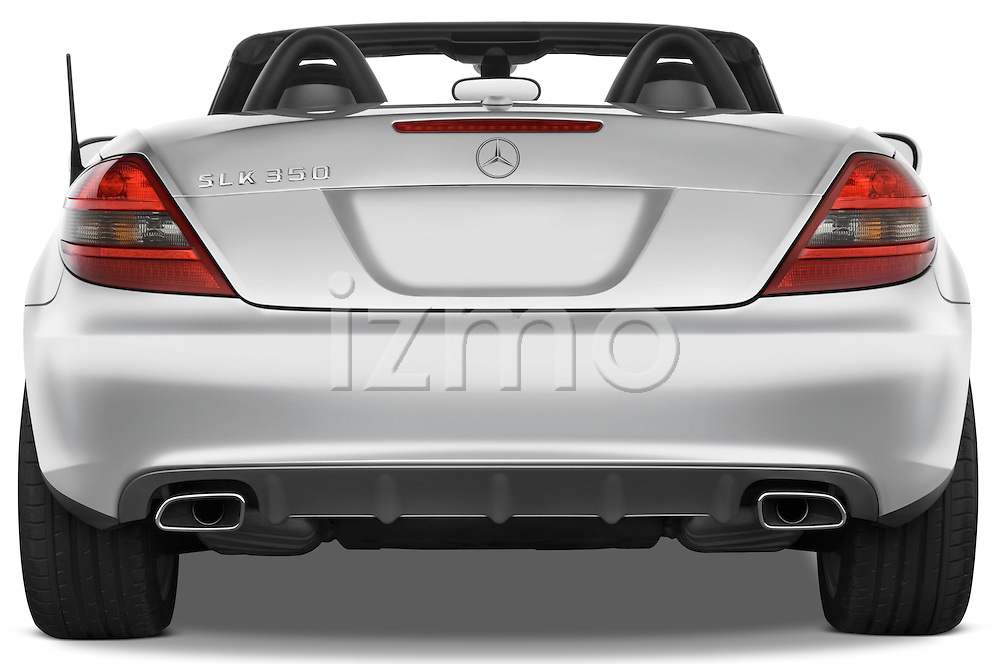 Straight rear view of a 2009 Mercedes SLK Class 350