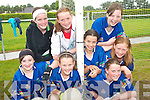 FUN TIME: Young football stars from Milltown enjoying the Kerry GAA VHI Cul Camp in Milltown  on Thursday last..Front L/r. Sandra Fleming, Zeta Ashe, Paige O'Connor, Tara Doyle Coffey..Back L/r. Laura Jennings, Lena McKenna, Bronagh Murphy and Shauna McGillycuddy.   Copyright Kerry's Eye 2008